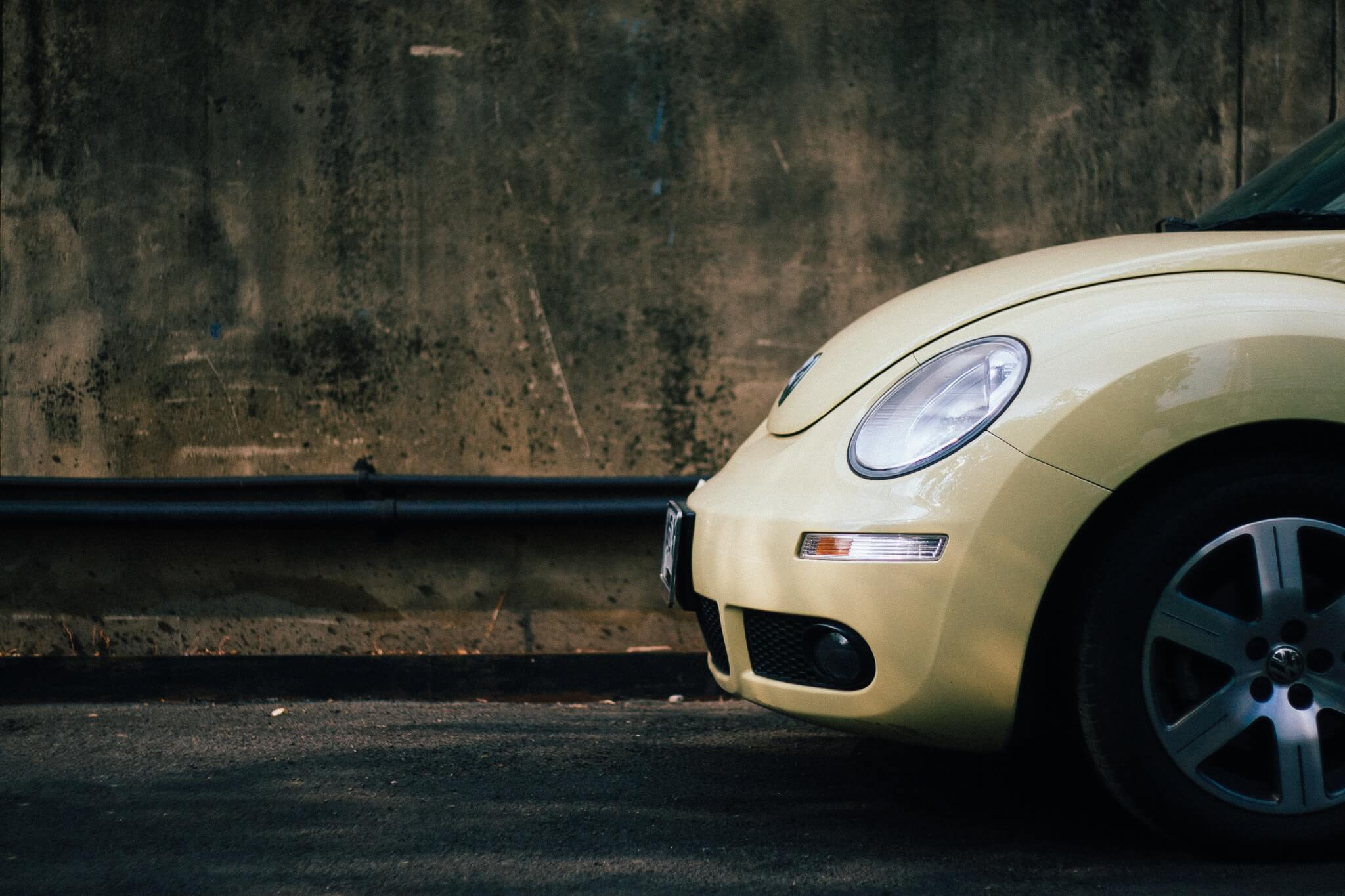 profile of the front end of VW bug