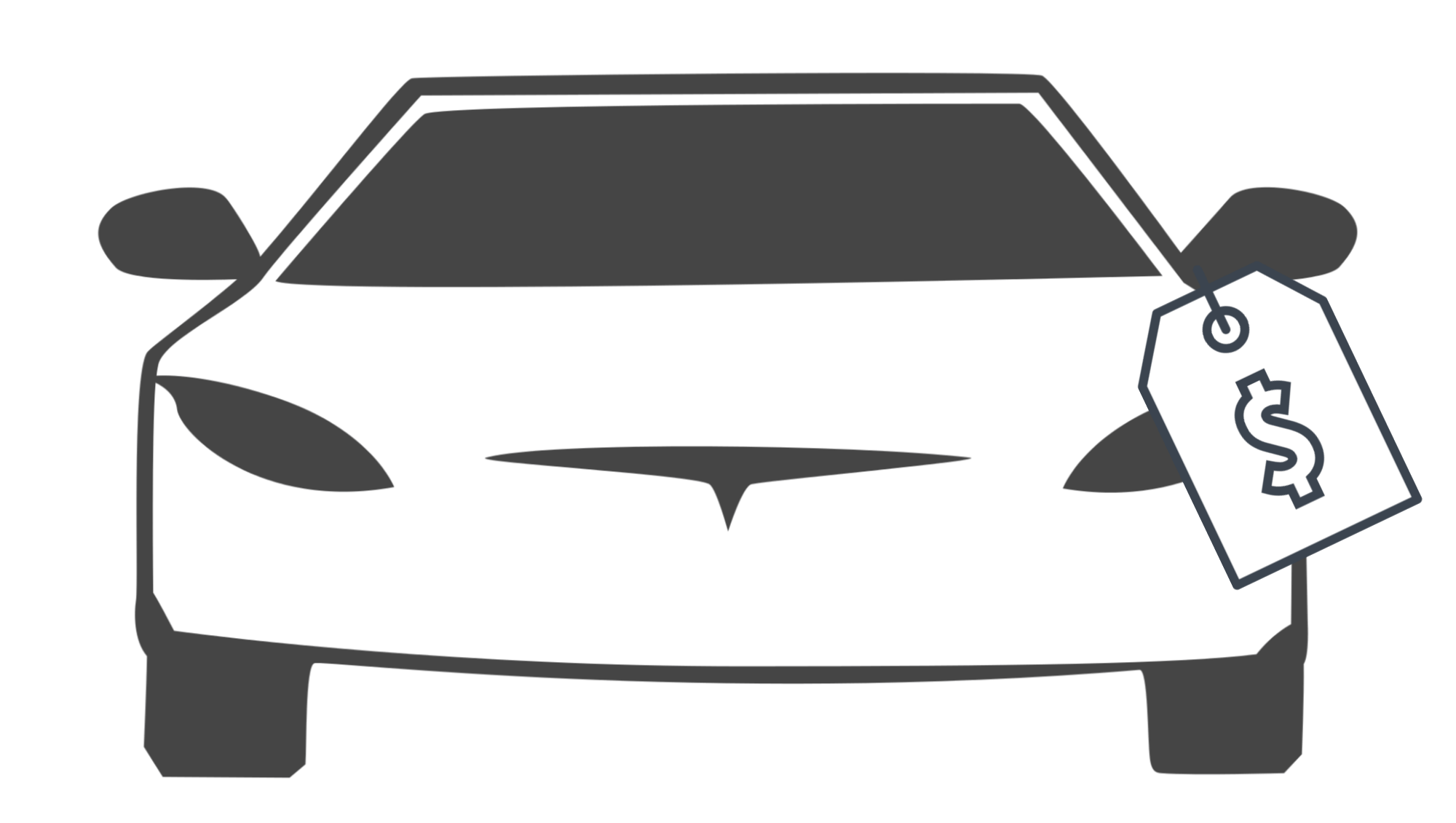 car graphic with price tag