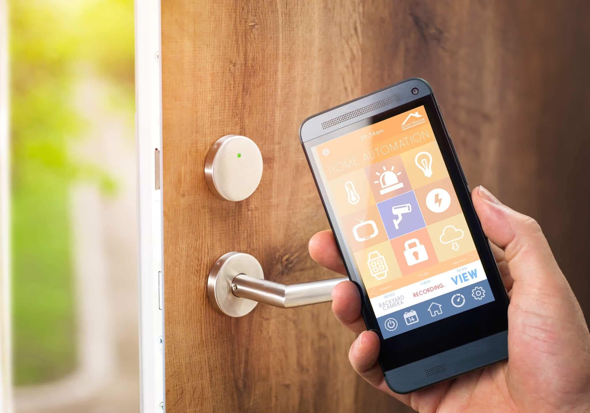 smart door lock with app