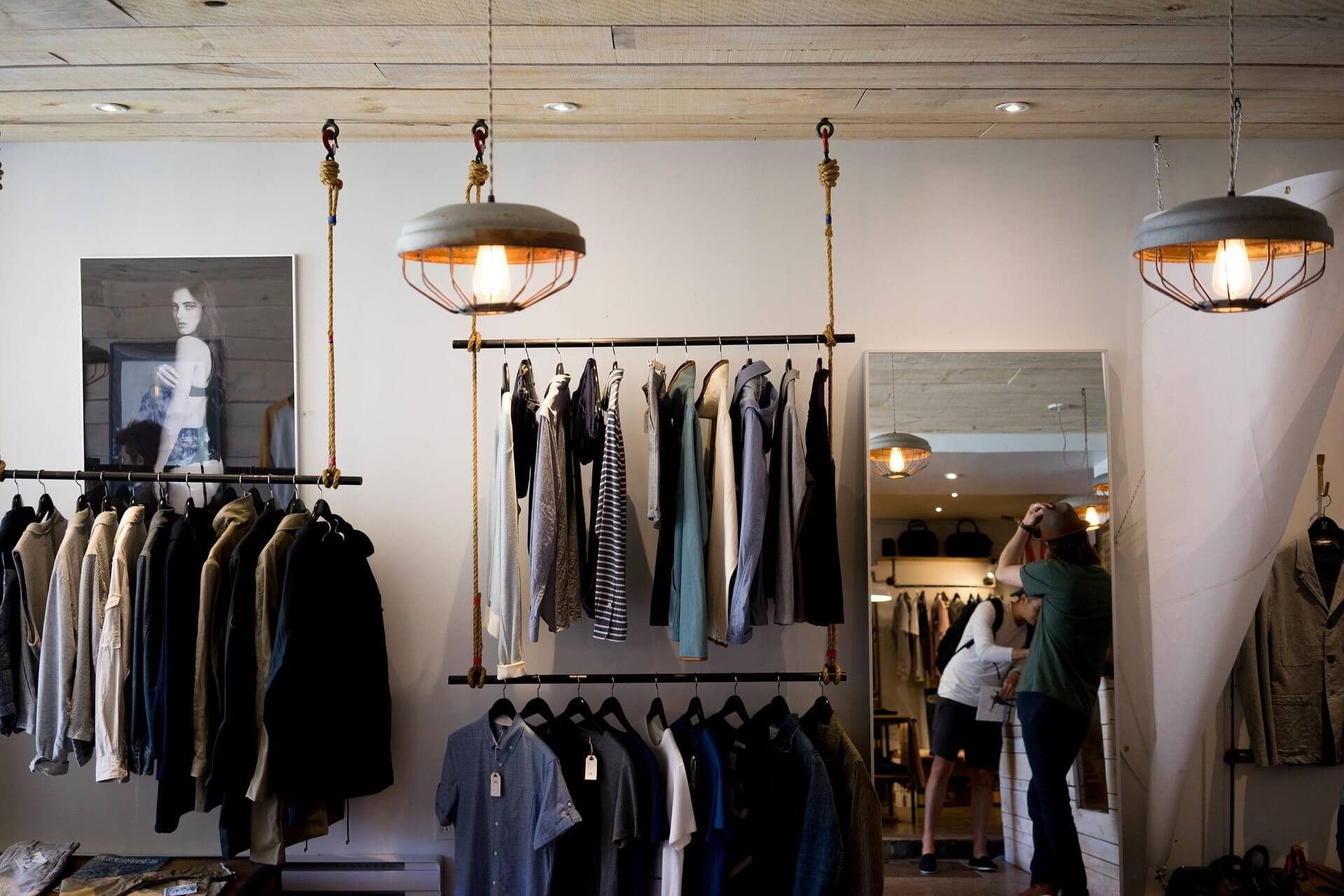 modern clothing store