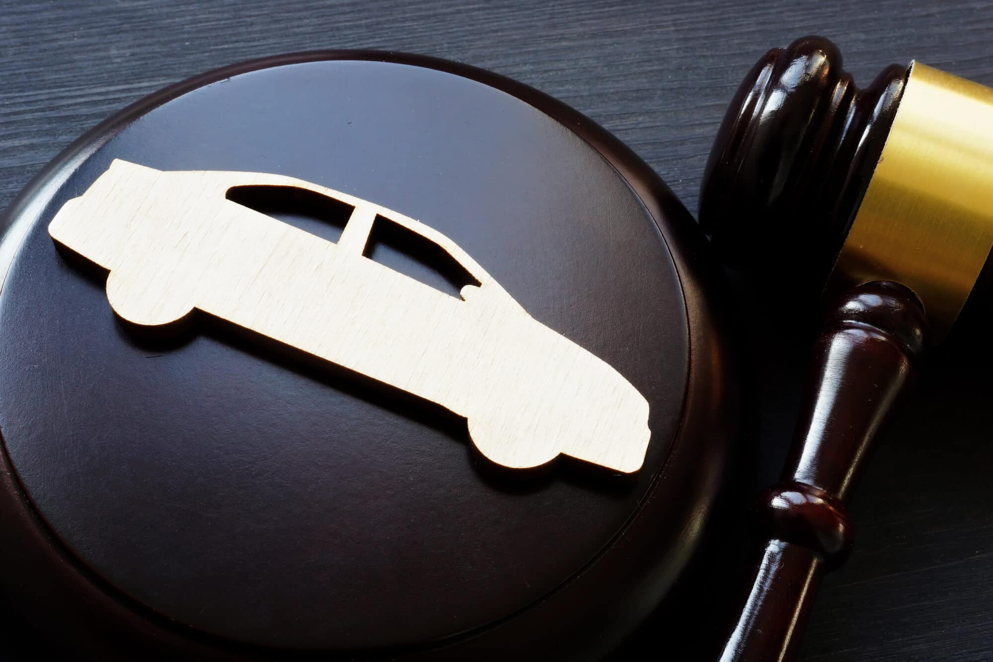 car cutout and gavel