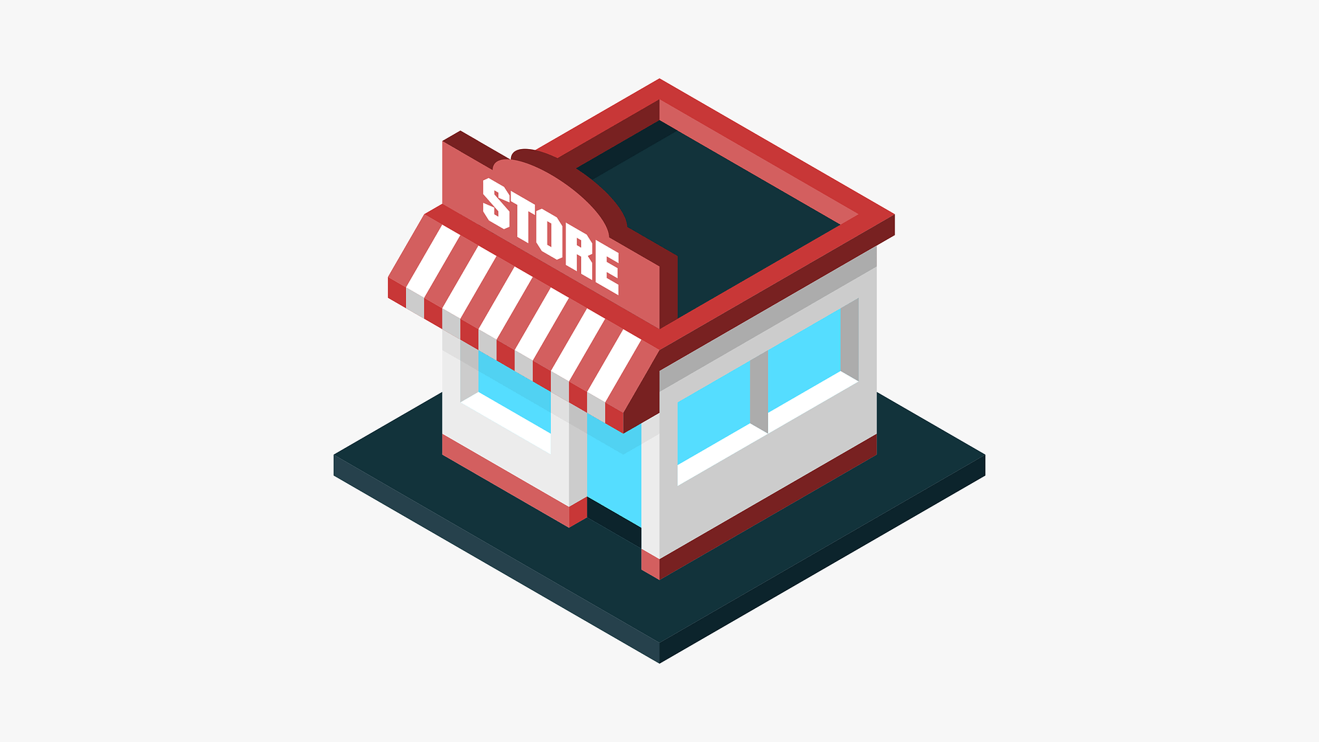 graphic of tiny storefront