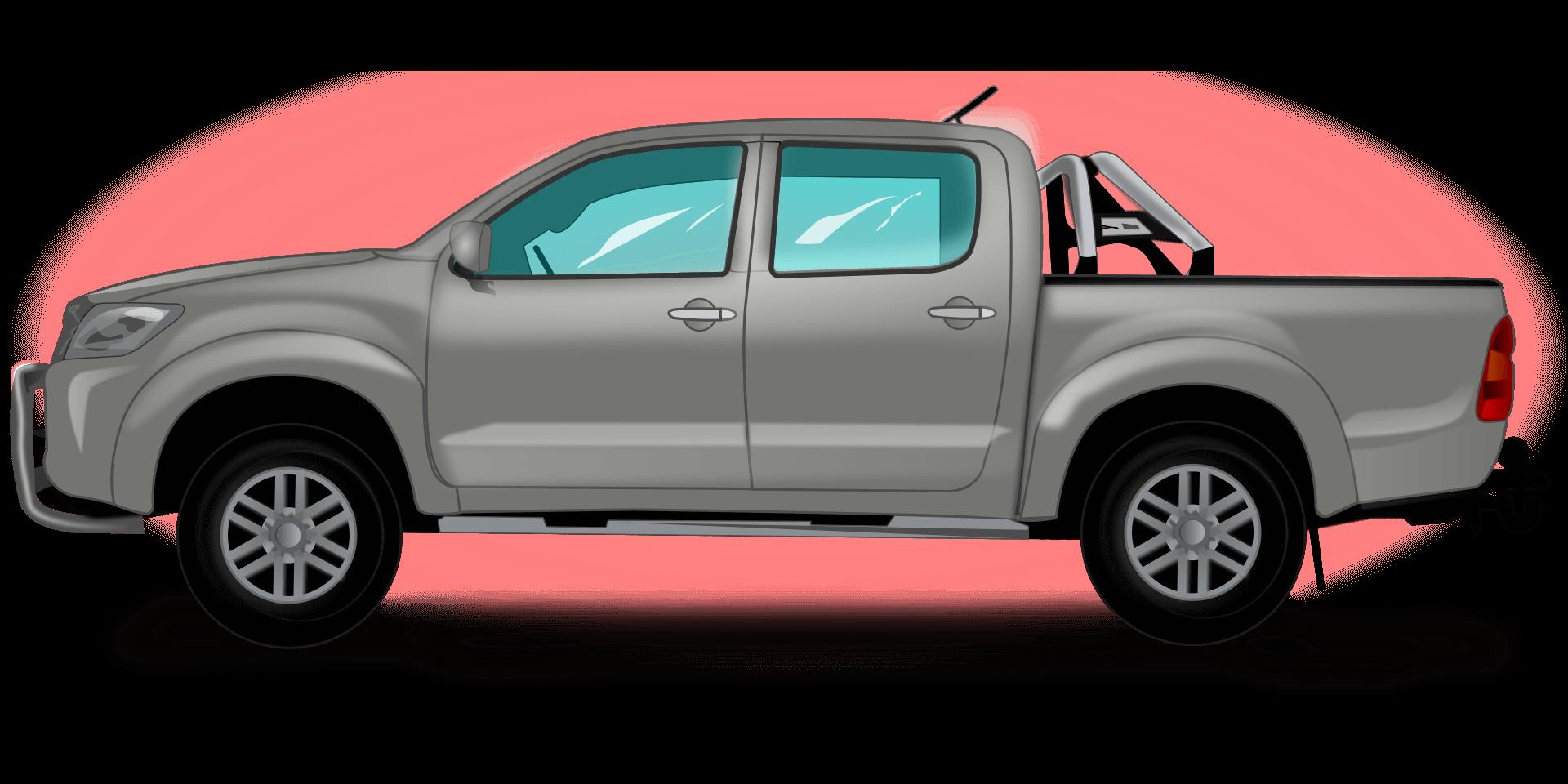 illustration of pickup truck